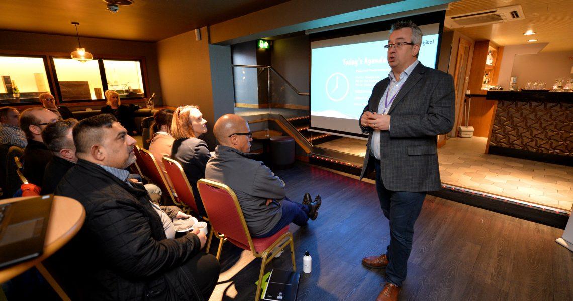WOLVERHAMPTON   COPYRIGHT TIM STURGESS Express & Star ......... 14/11/19   MNA Digital event atCasino 36 56-58 Temple Street Wolverhampton. Pictured, William Beavis